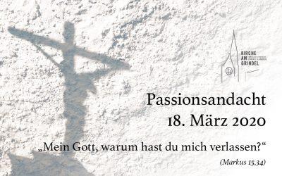 Passionsandacht 18.03.20