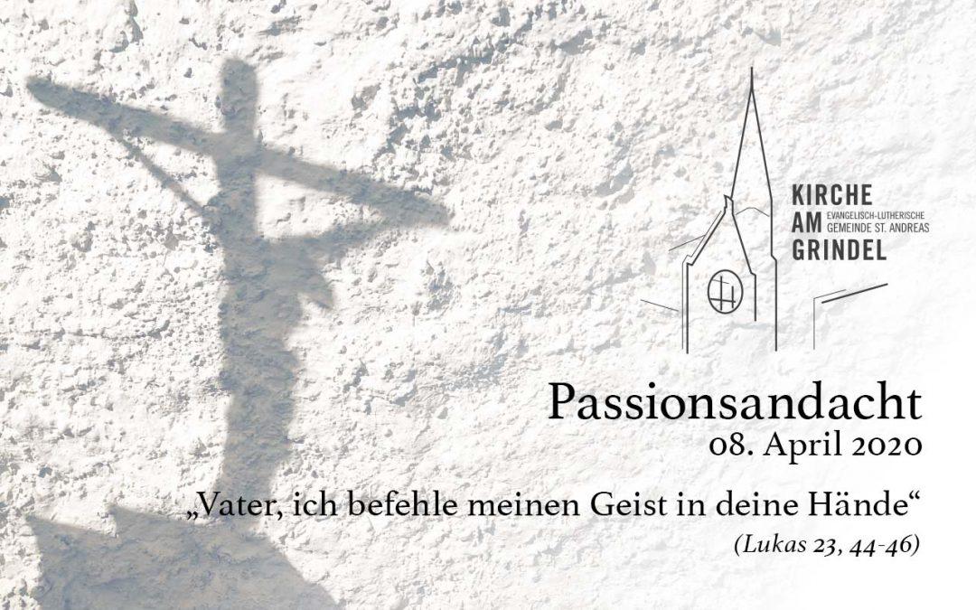 Passionsandacht 08.04.20